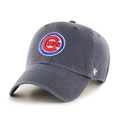 a595703a4b555 Amazon.com   47 Brand MLB Chicago Cubs Clean up Cap - Vintage Navy ...