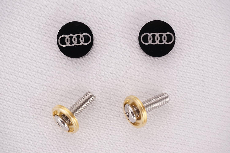 trype2 4 Pcs Separate Chrome LICENSE PLATE FRAME Bolt Screws For Audi Series