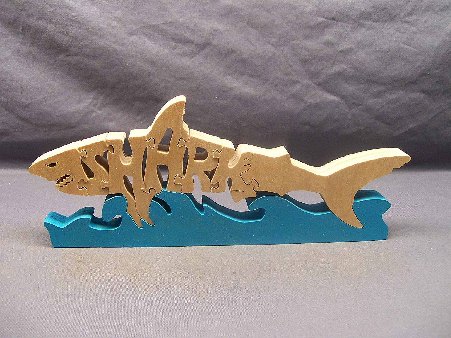 wooden shark puzzle
