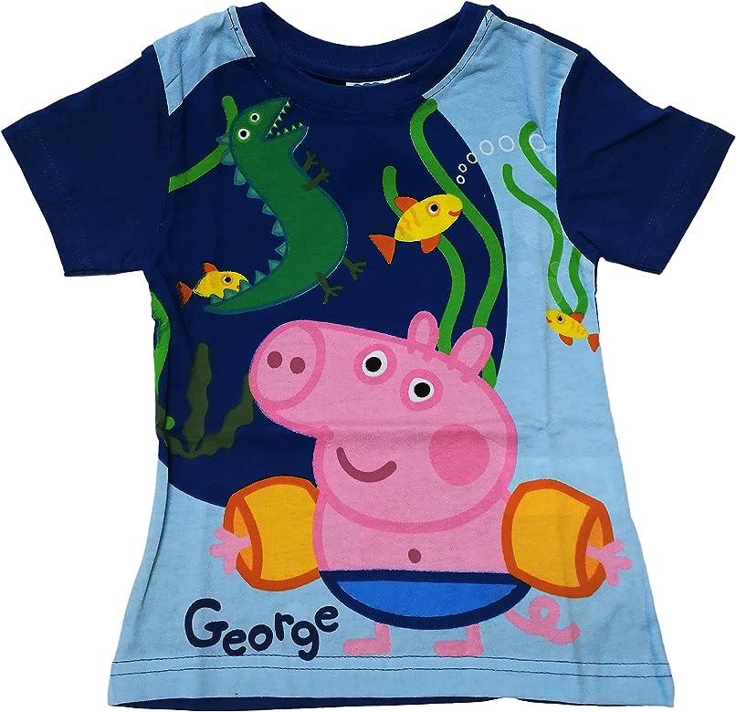 Camiseta Infantil Unisex para niños George Peppa Pig Color Azul ...