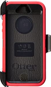 OtterBox DEFENDER SERIES Case for iPhone SE (1st gen - 2016) and iPhone 5/5s - Retail Packaging - RASPBERRY (BLACK/RASPBERRY PINK) (Discontinued by Manufacturer)