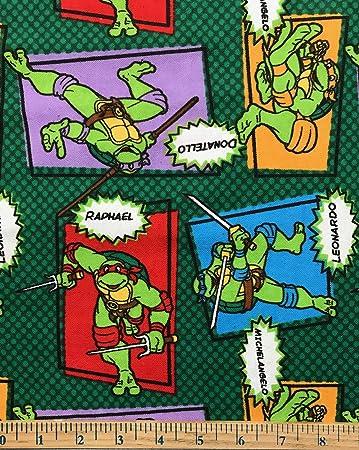 Amazon.com: 1 Yard - Teenage Mutant NInja Turtles Characters ...