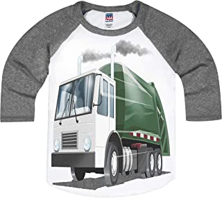 product image for Shirts That Go Little Boys' Garbage Truck Raglan T-Shirt