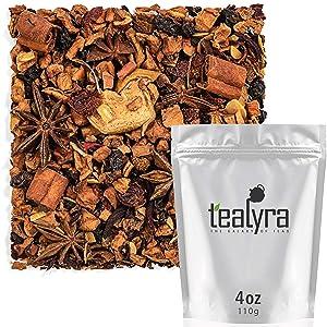 Tealyra - Warm Apple Cider - Hibiscus - Aniseed - Cinnamon - Almonds - Herbal Fruity Loose Leaf Tea - Caffeine Free - 112g (4-ounce)