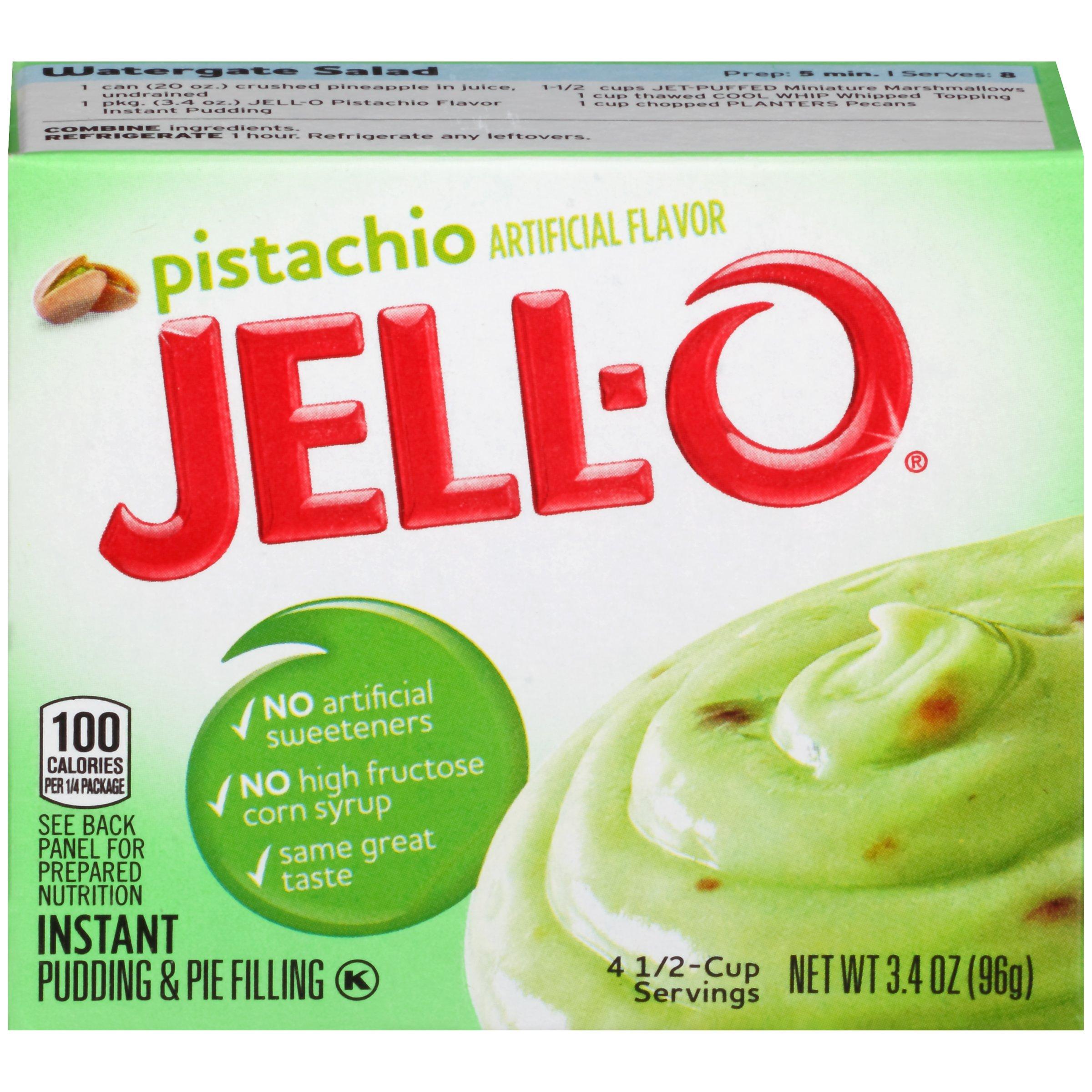 Jell-O Instant Pistachio Pudding & Pie Filling, 3.4 oz Box