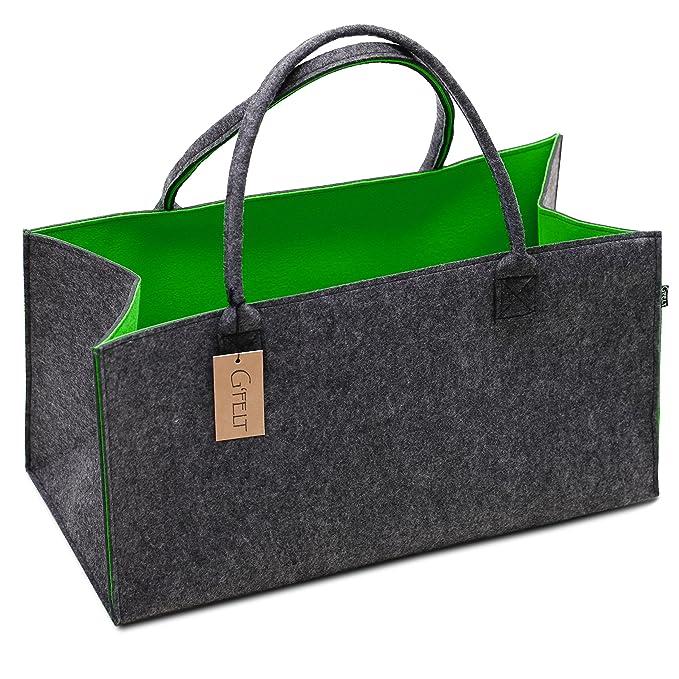 Bolso de fieltro prémium G felt, como de bolsa de la compra de alta calidad, elegante bolsa de playa, revistero, cesta de fieltro, cesta para la madera de ...