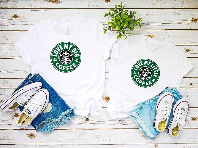 edfd89694 Big Little GBig Sorority College shirts, Love My Big and Coffee,big little  sorority gift, Friends Inspired sorority shirts, Coffee big little shirts, big ...