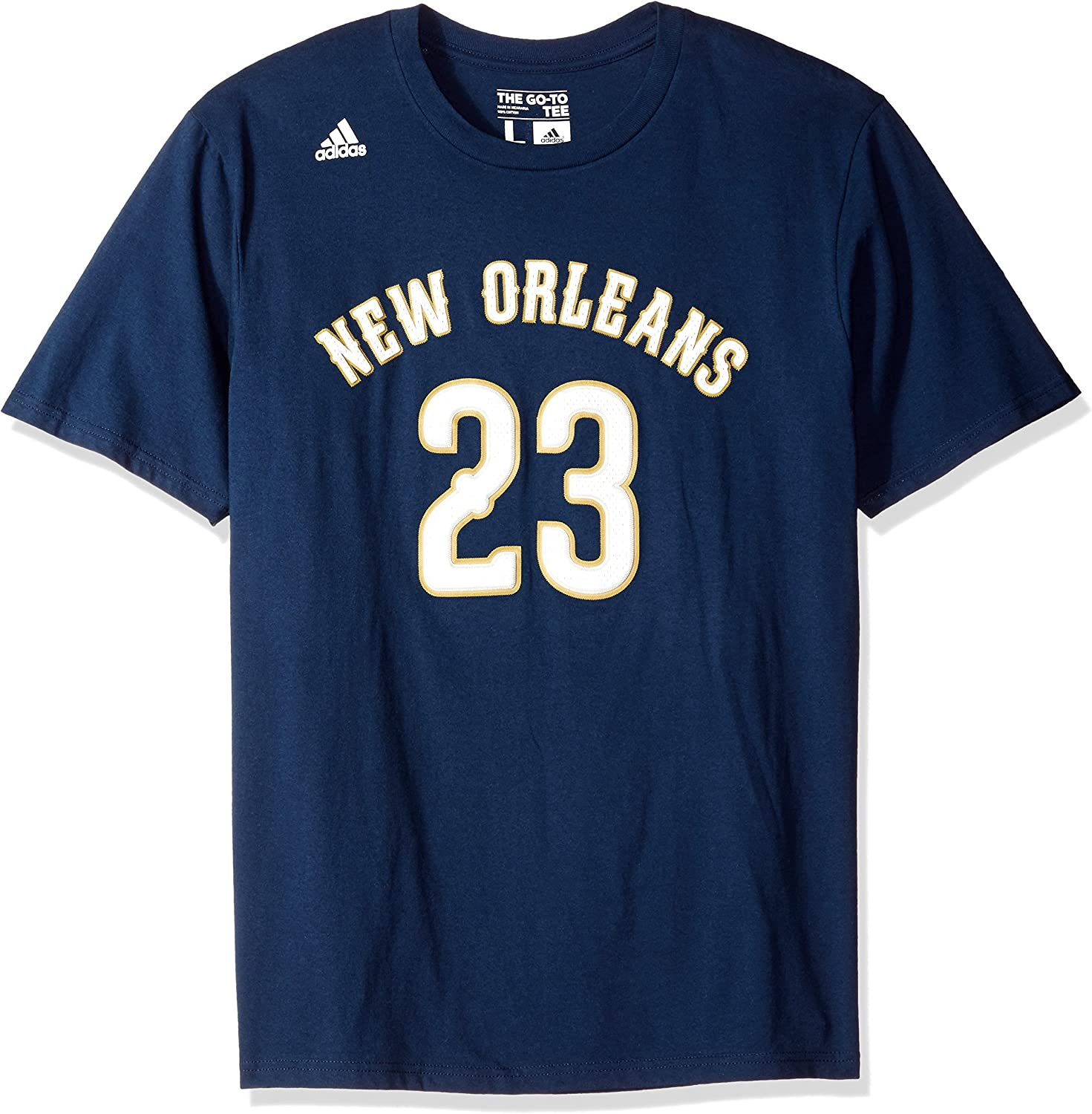 NBA Anthony Davis New Orleans Pelicans Mens T-Shirt Short Sleeve Tee Shirt Charcoal Large
