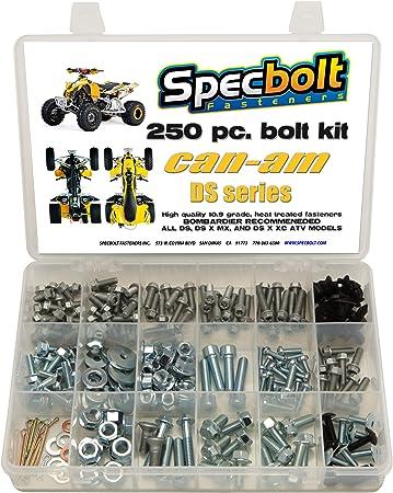 Blaster YFS200 model series ATV Kit for Maintenance /& Restoration OEM Spec Fasteners Quad Specbolt Fasteners 150pc Yamaha Bolt Kit