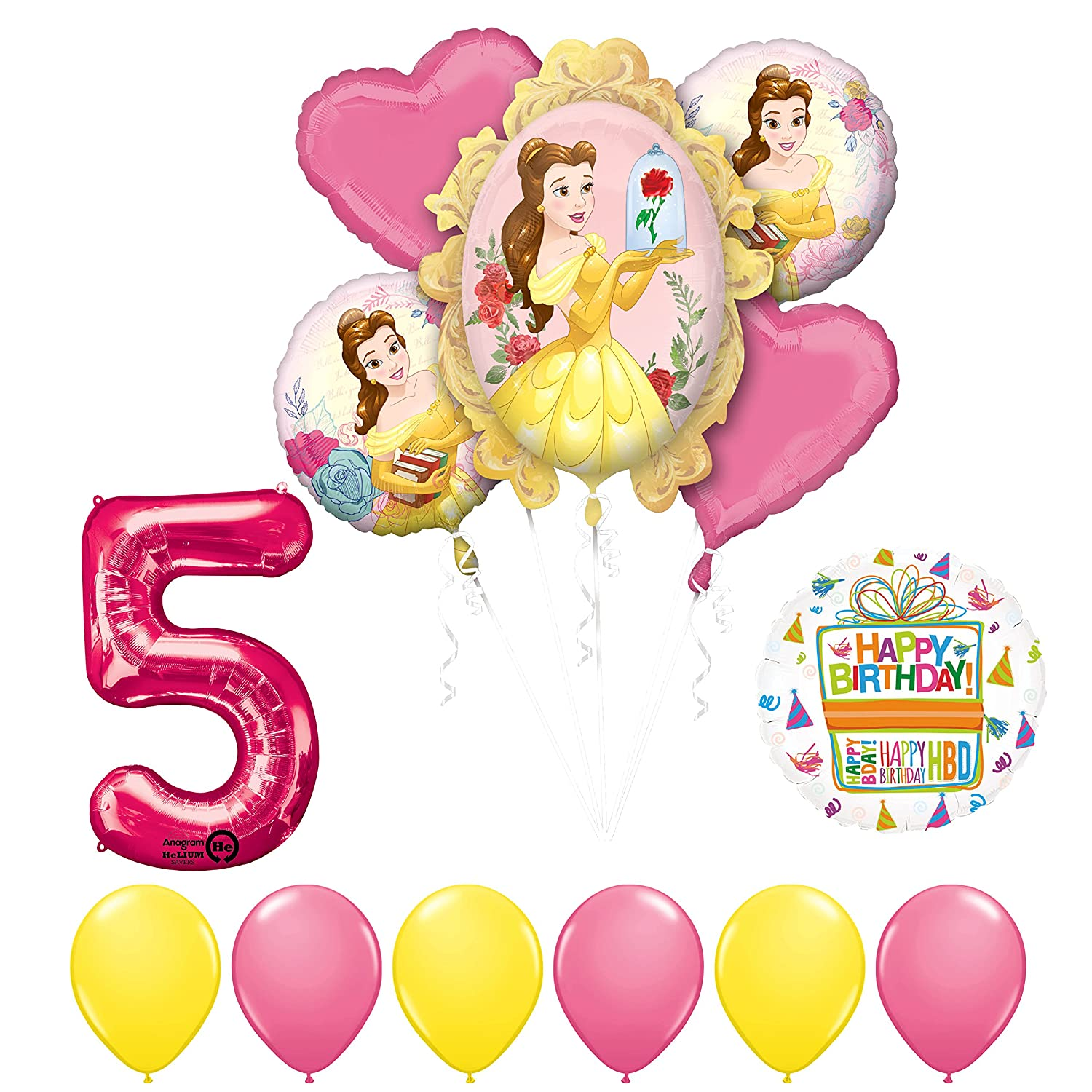 Amazon Beauty And The Beast 5th Birthday Party Balloon Supplies Decorations Toys Games
