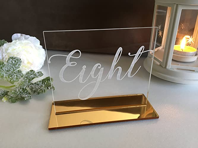 Amazon Clear Acrylic Engraved Table Numbers For Weddings