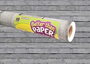 Teacher Created Resources Gray Wood Better Than Paper Bulletin Board Roll (TCR77035)