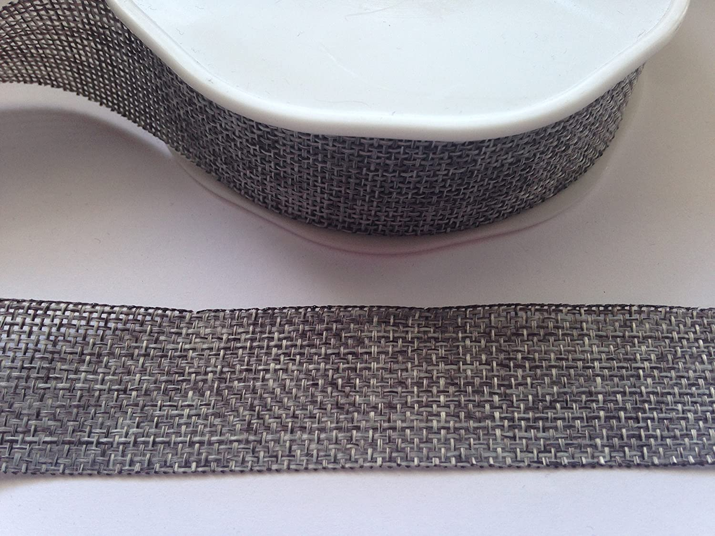 Burlap Ribbon Natural 25mm Hessian Jute Ribbon 2 Metres by Vivant LEPAZIK721