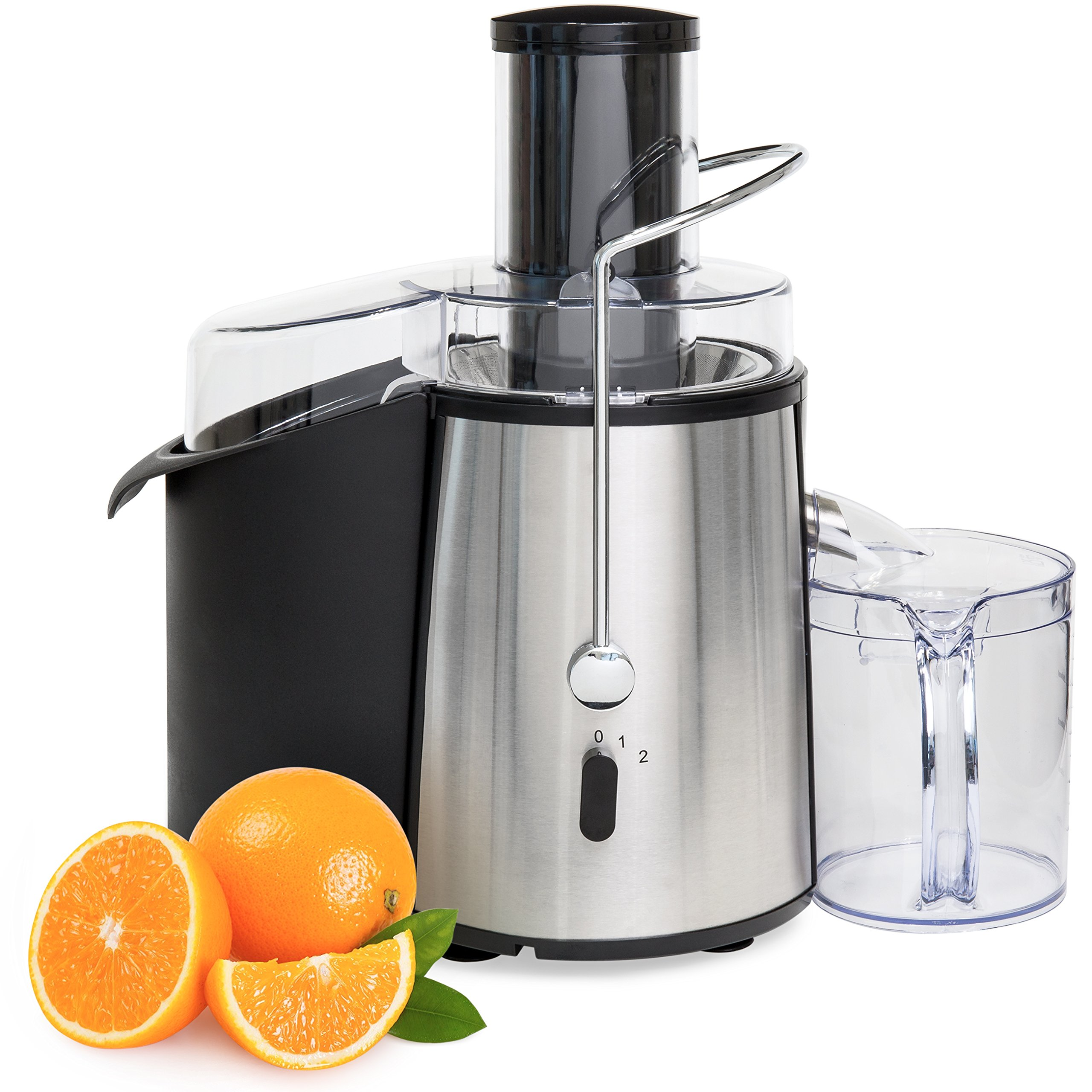 Best Choice Products 2-Speed 700-Watt Stainless Steel Fruit Vegetable Power Juicer Extractor w/Wide Chute - Silver