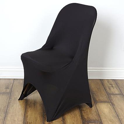 amazon com balsacircle 10 pcs spandex folding chair covers wedding