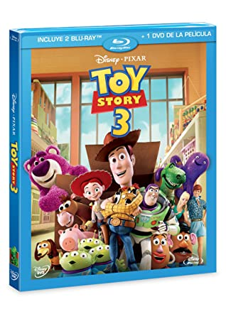 Toy Story 3 : Spanish Audio Combo (2 Blu-ray + 1 DVD)