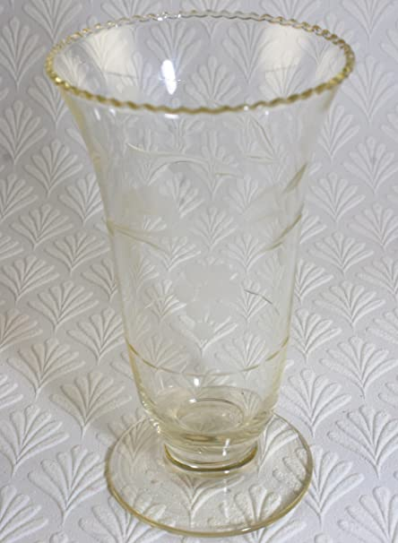 1860 Antique Acid Etched Glass Celery Vase Amazon Kitchen Home