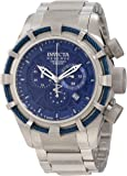 Invicta Men's 11039 Bolt Reserve Chronograph Blue Textured Dial Watch