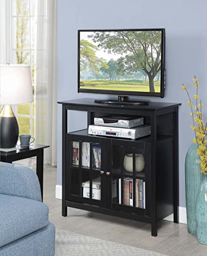 Beau Convenience Concepts 8066070BL Big Sur TV Stand, Black