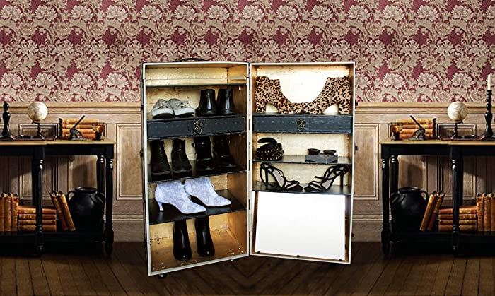 Madetoorder Unique Shoe Cabinet Steamer Trunk Vintage Style Luxury