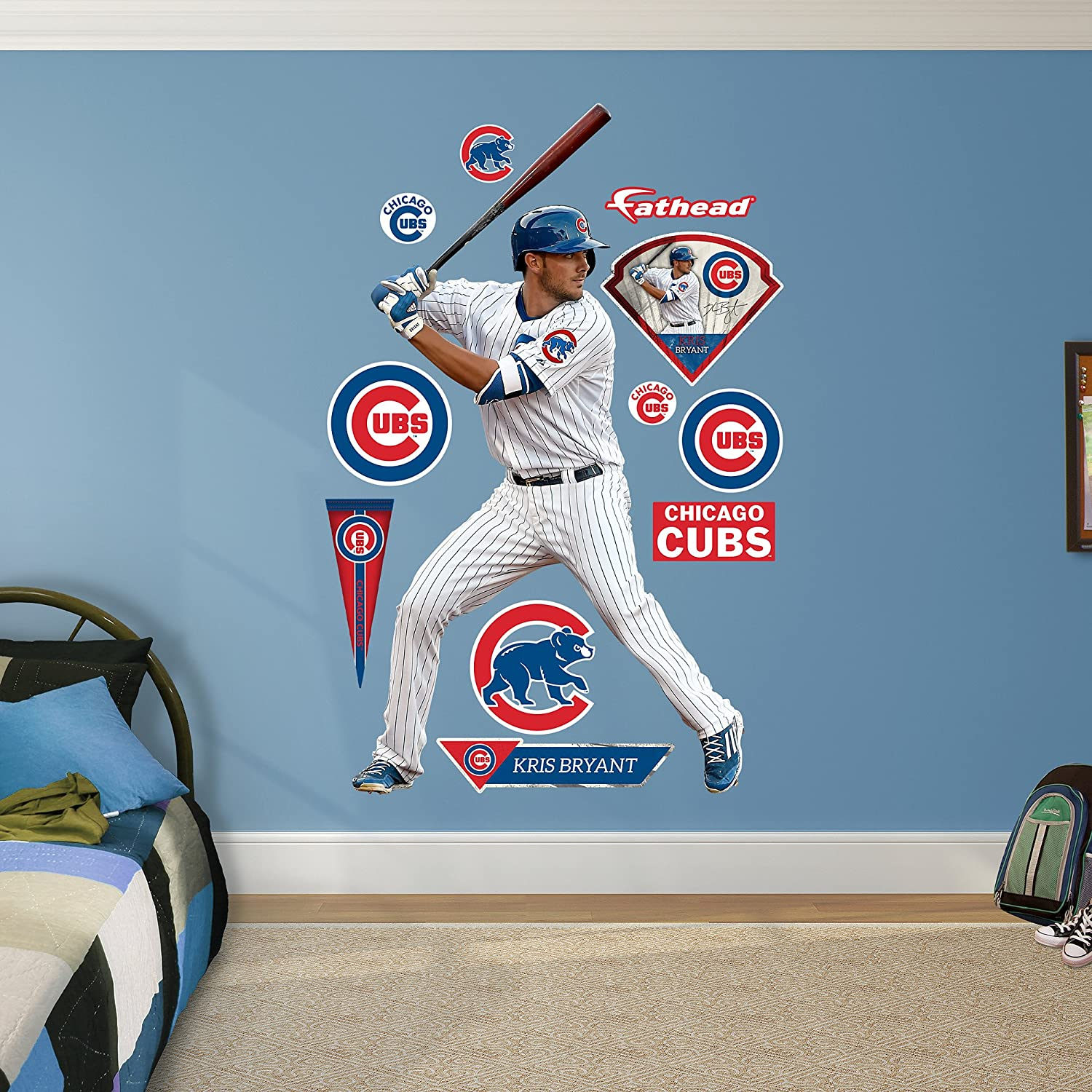 amazon com mlb chicago cubs kris bryant fathead real big decals amazon com mlb chicago cubs kris bryant fathead real big decals one size multicolor sports outdoors