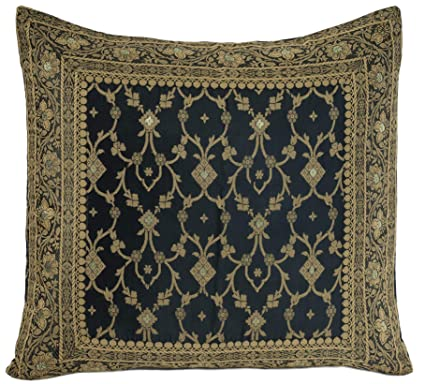 Amazon Com Worldcraft Indian Sari Decorative Pillow Cover Colorful
