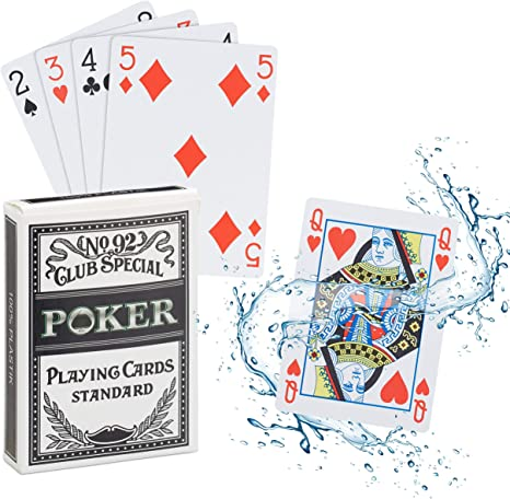 2 Sets//Lot Texas Hold/'em Plastic playing card game poker cards Waterproof and du