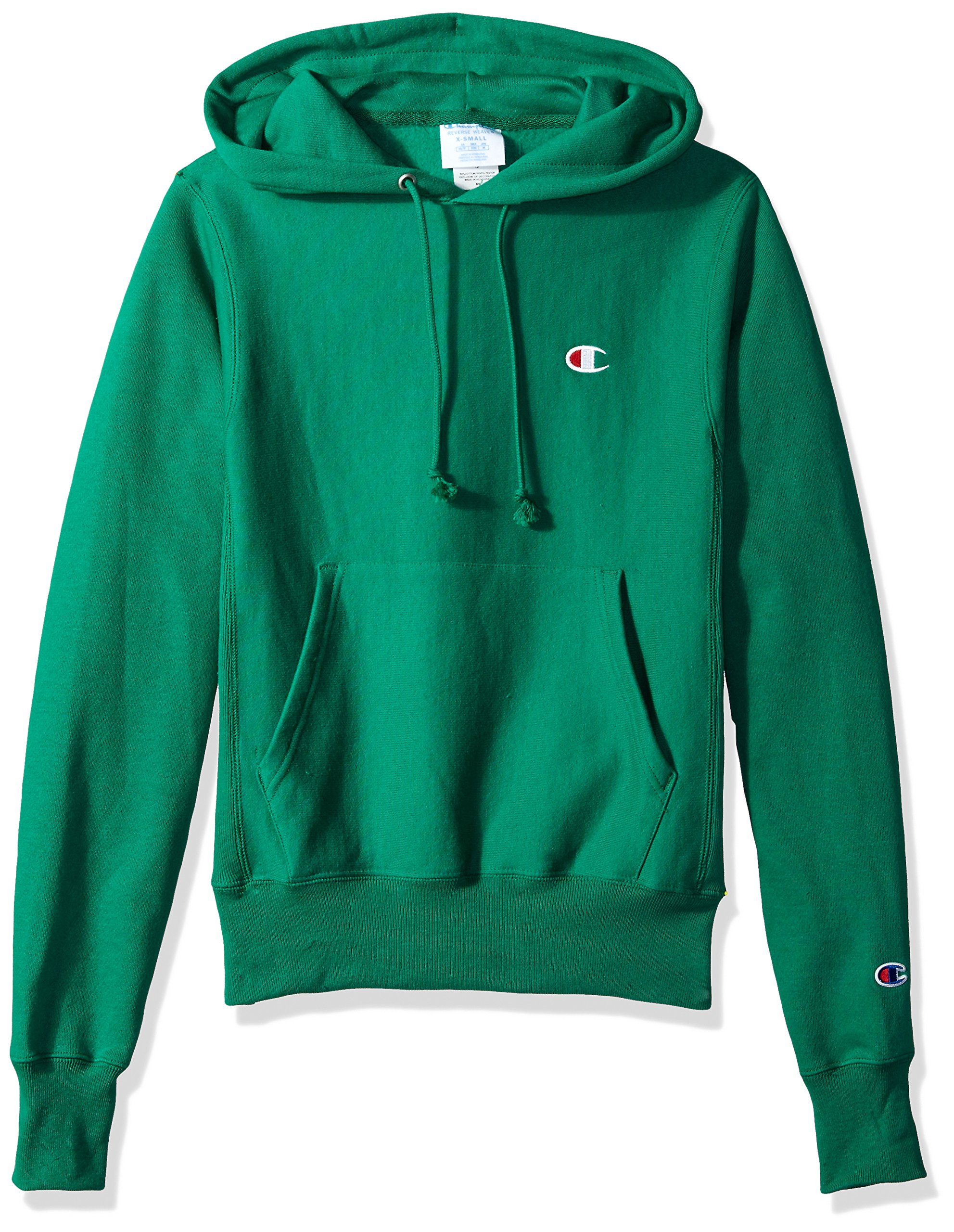 Champion LIFE Men's Reverse Weave Pullover Hoodie, Kelly Green/Left Chest C Logo Small
