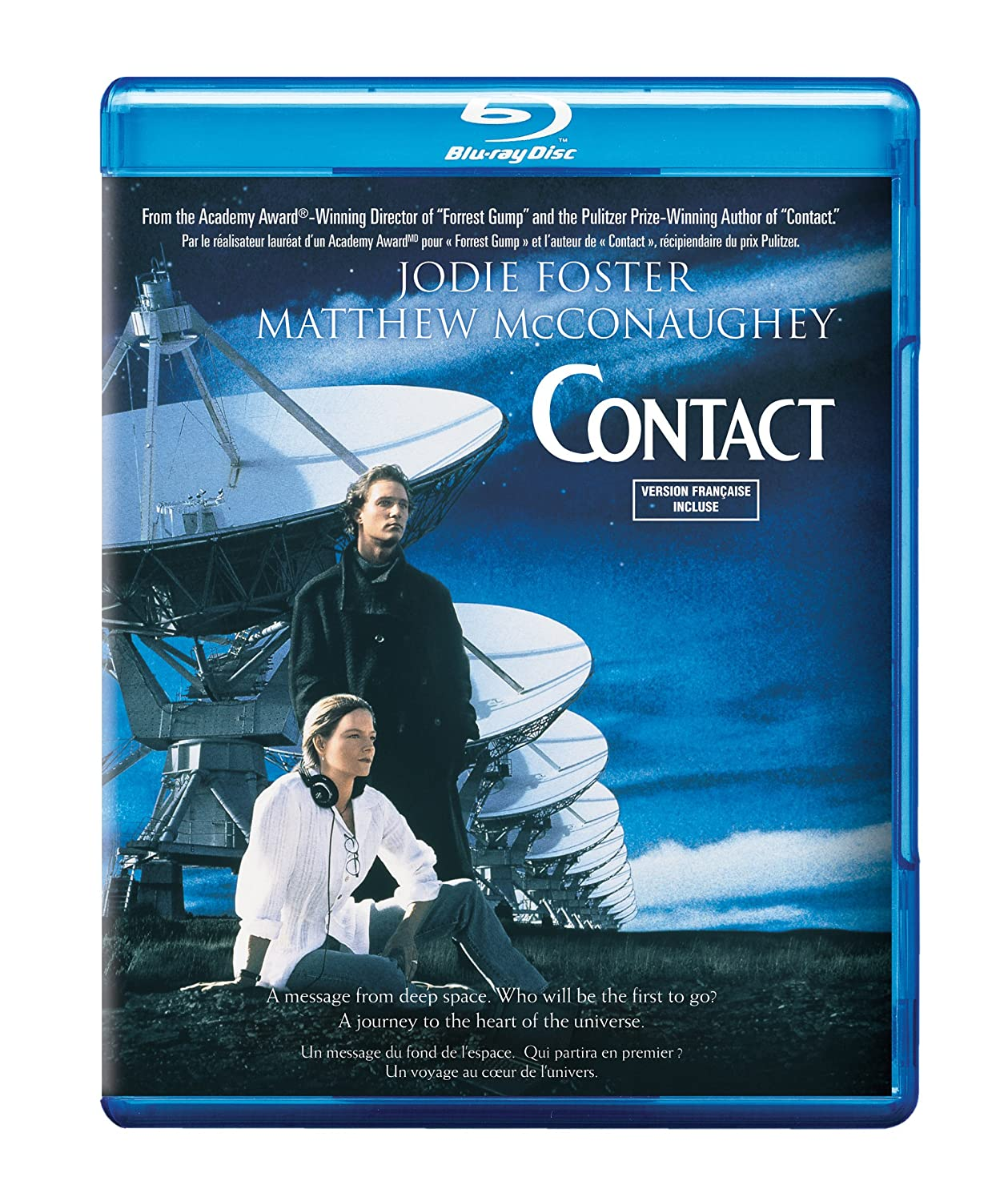 Contact (Bilingual) [Blu-ray] Jodie Foster James Woods John Hurt Tom Skerritt
