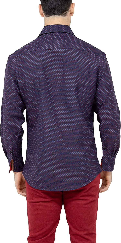 182392 Red Button Up Long Sleeve Dress Shirt BC