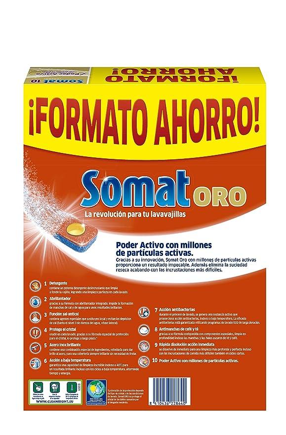 Somat Oro Pastillas Lavavajillas 40 Dosis: Amazon.es: Alimentación ...
