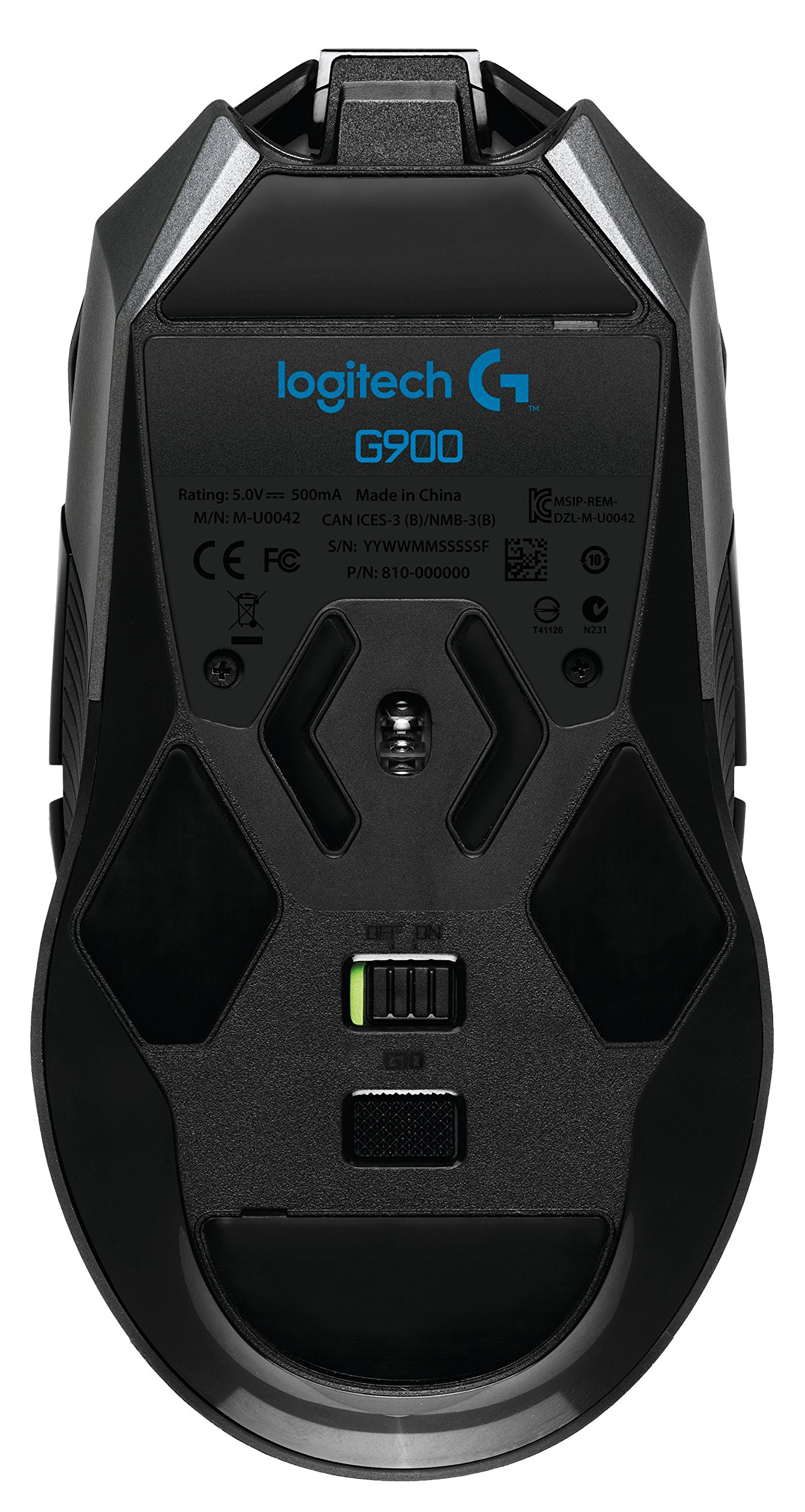 Logitech G900 Chaos Spectrum Professional Grade Wired/Wireless Gaming Mouse, Ambidextrous Mouse by Logitech G