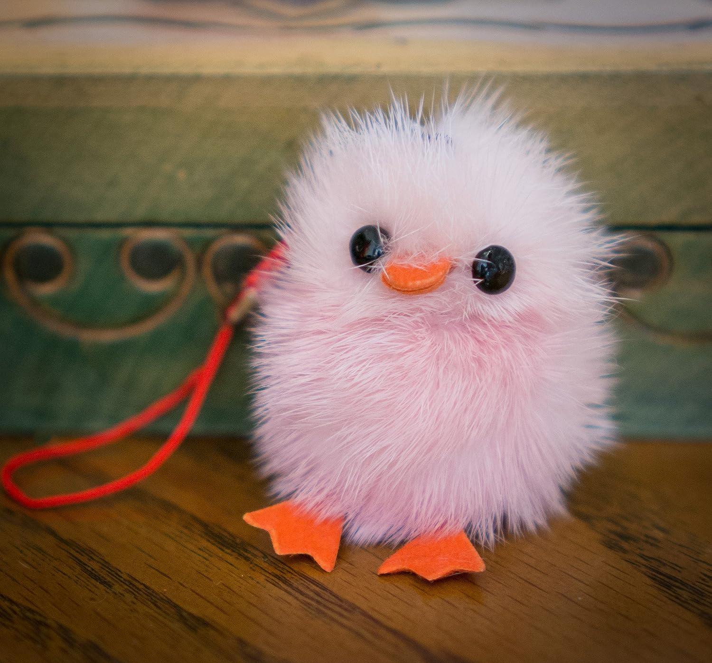 Achetez 2 GET 1 FREE. Pequeño pollito en forro – bebé pájaro peluche pato llavero pompón, charme, Animal pelo sintético, un regalo único, Mignon, ...