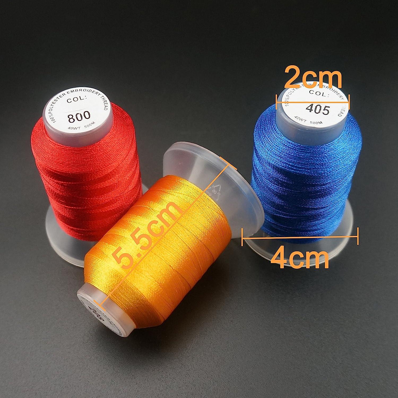 Sortiment 3 550Y New brothread 30 Neue Janome Farben Polyester Maschinen Stickgarn 500M