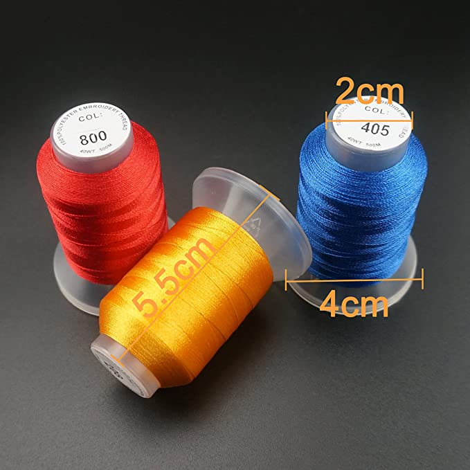 New brothread 40 Brother Colores 500M(550Y) Poliéster Bordado ...