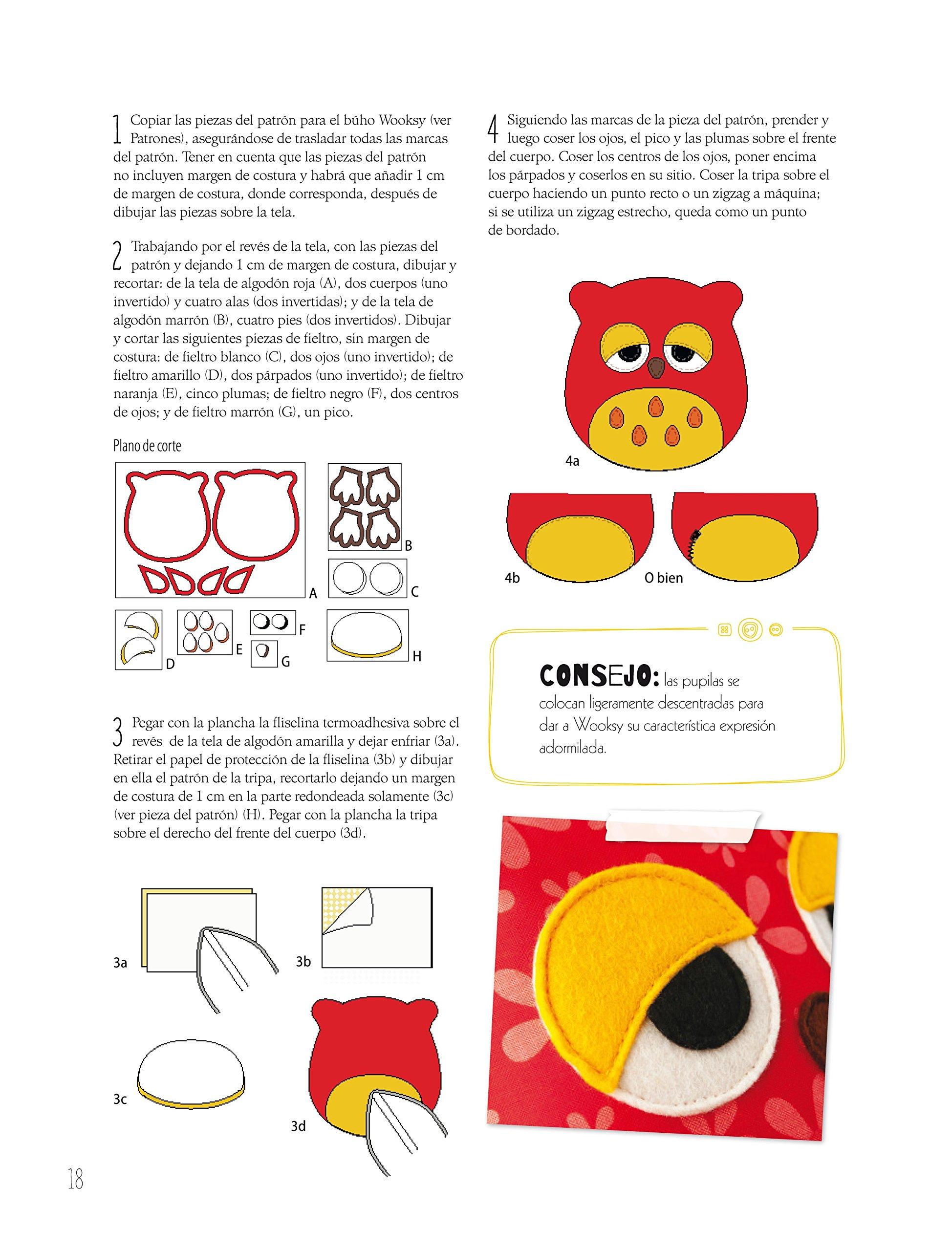 Simpáticos y originales muñecos de tela: 12 Proyectos fáciles de hacer paso a paso con patrones a tamaño natural: Mariska Vos-Bolman: 9788498744866: ...