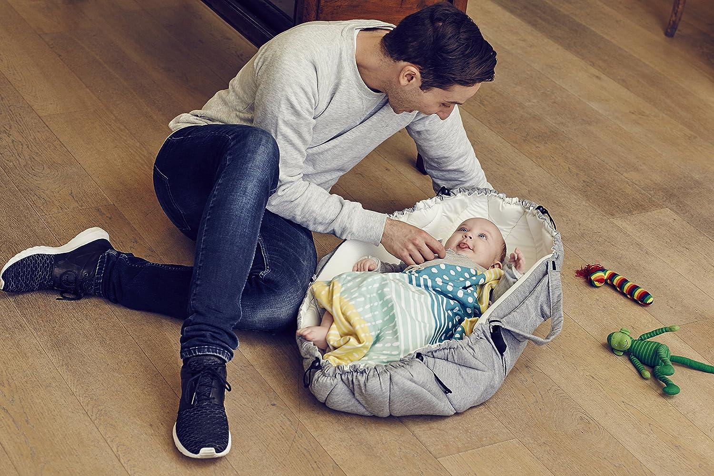 Liegewiese Matratze f/ür Neugeborene Babytrage liegend grau Schlafnest f/ür Babys Najell SleepCarrier