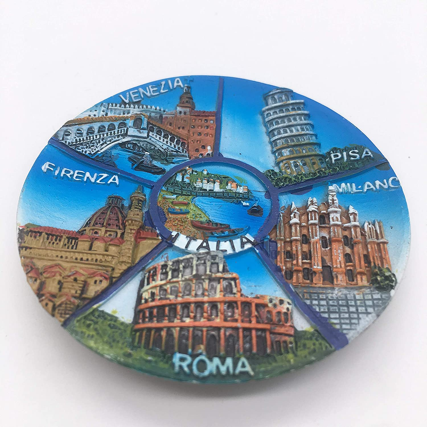 Amazon.com: Fridge Magnet 6 Attractions Italy 3D Resin ...