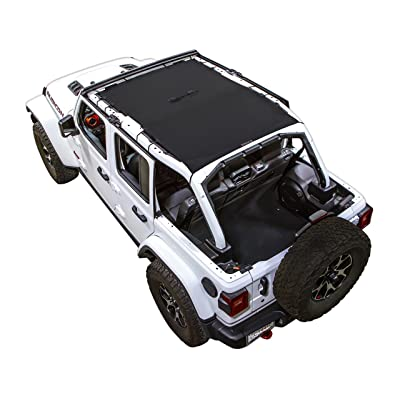 SPIDERWEBSHADE Jeep Wrangler JL Mesh Shade Top Sunshade UV Protection Accessory USA Made with 5 Year Warranty for Your JL 4-Door (2020 - current) in Black: Automotive
