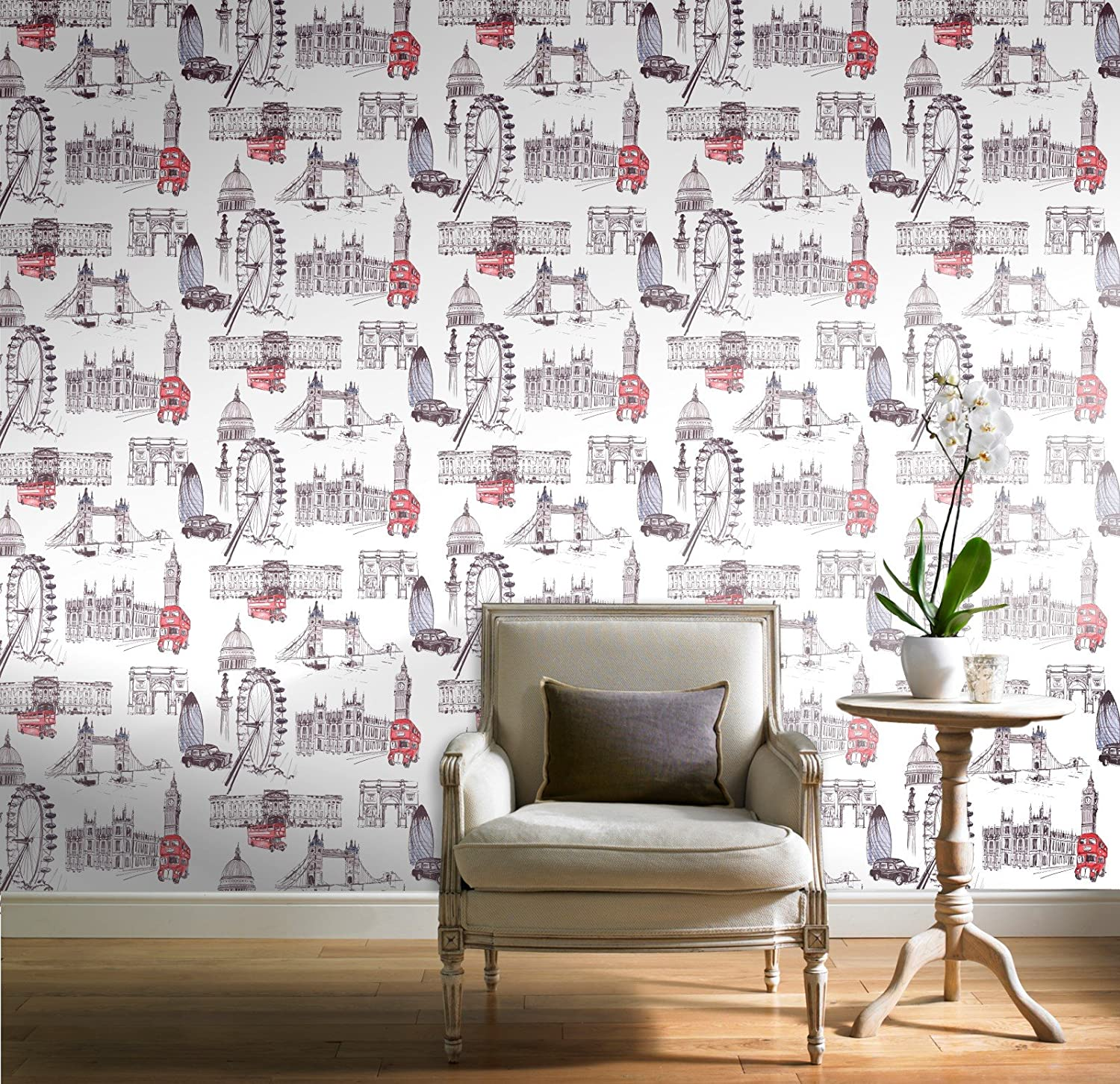GranDeco Wallpaper Sightseeing POB 26 01 6 Amazoncouk DIY Tools