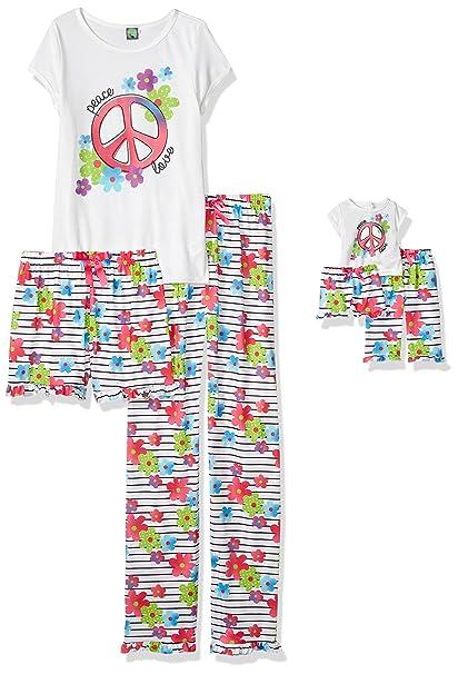Amazon.com  Dollie   Me Girls  Big Knit 3 Pc Sleep Set  Clothing de524d3d4