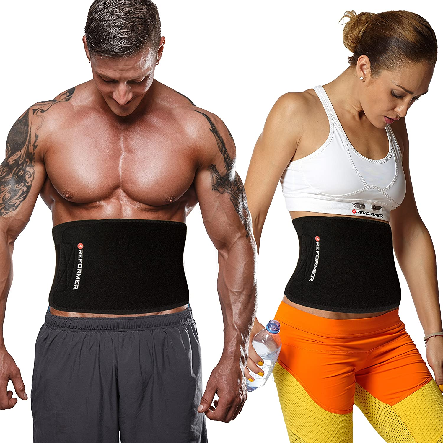277796614e Reformer Athletics Waist Trimmer Ab Belt Trainer for Faster Weight Loss.  Includes Free Fully Adjustable Impact Resistant