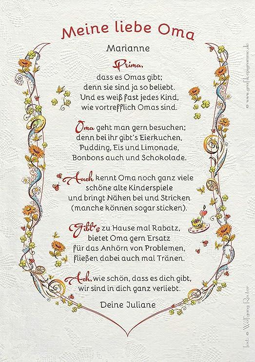 regalo para la abuela Regalo de cumpleaños Cumpleaños poema ...