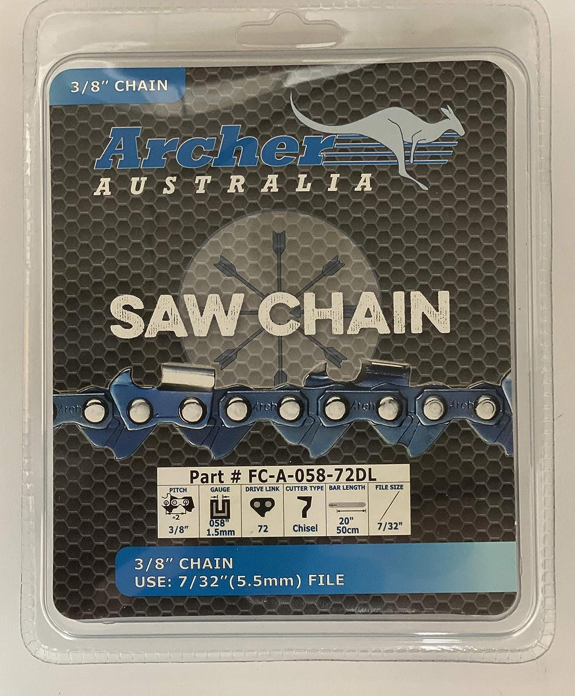 Details about  /6 x CHAINSAW CHAIN 20 3//8 058 SEMI Chisel 72 D//L fits Husqvarna 20 inch bar