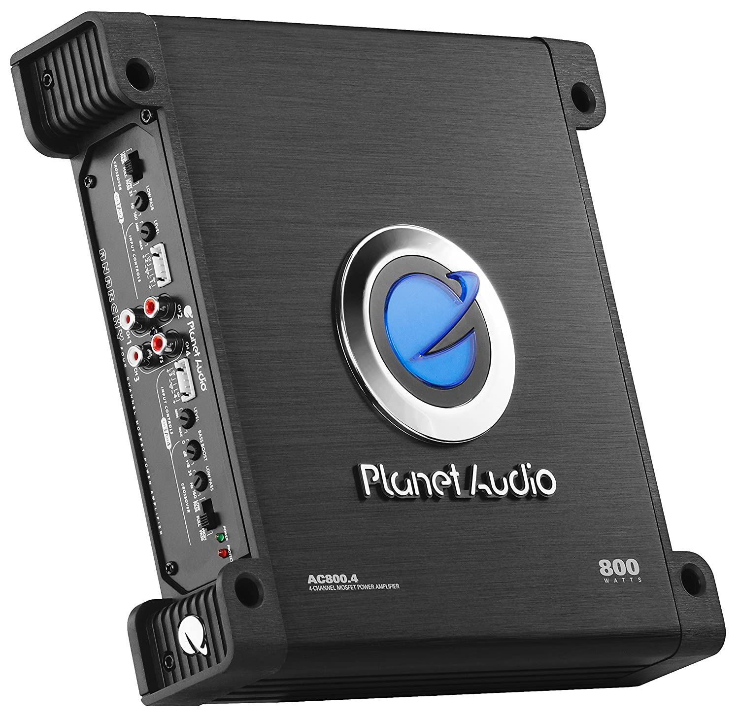 Planet Audio Ac8004 Anarchy 800 Watt 4 Channel 2 Wiring For Front Component Speakersimg13691jpg Ohm Stable Class A B Full Range Bridgeable Mosfet Car Amplifier Electronics