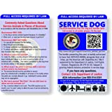 Just 4 Paws Service Dog ID Information Card | Includes Registration to U S Service Dogs Registry