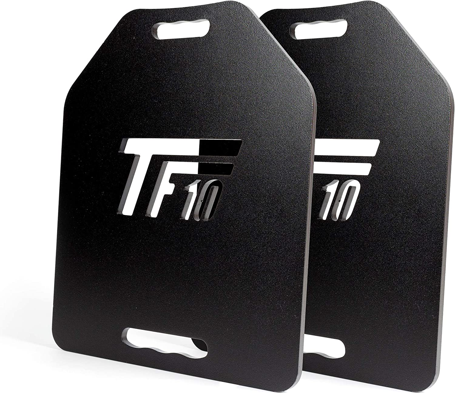 TRAINLIKEFIGHT Weighted Plates 10lbs Flat Version (20lbs Pair) - Juego de Placas Planas lastradas de Peso de 4,5kg (9kg Total Pareja), sin Chaleco