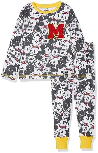 Mickey Mouse Disney All Over Print, Conjuntos de Pijama para Niños, (Multi 005