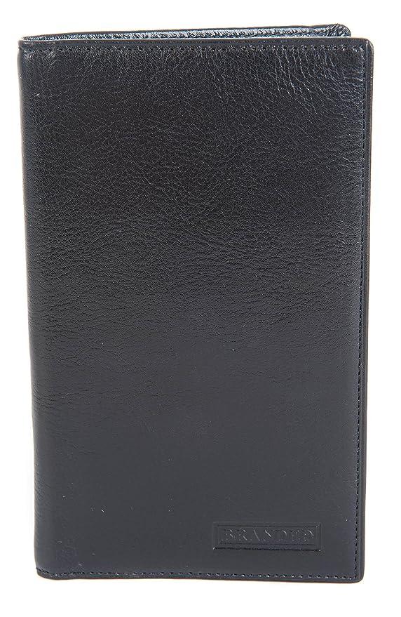 Men's Soft Leather Wallet With Coin Pocket Large Tall Black Top Brand Golunski