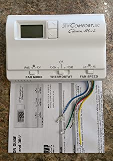 91ihQt5dFrL._AC_UL320_SR226320_ hunter 42999 just right digital thermostat nonprogrammable hunter thermostat 42999b wiring diagram at gsmx.co
